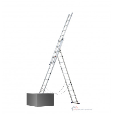 Лестница трехсекционная MASTEADO 3х8, алюминиевая, 3,95 м