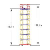 Вышка тура строительная ПРОФИ ВСП-250 1,6х2,0 м - 17,1 м