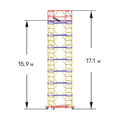 Вышка-тура строительная ПРОФИ ВСП-250 1,6х2,0 м - 17,1 м