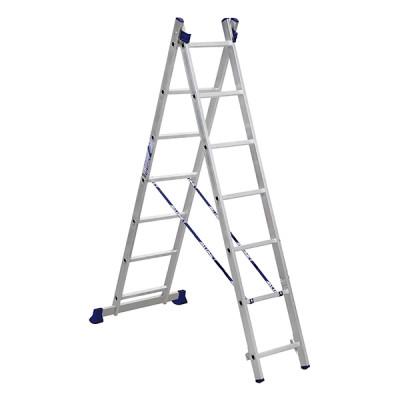 Лестница двухсекционная ALUMET 2х7, универсальная, 3,08 м H2 5207