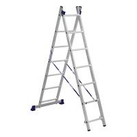 Лестница двухсекционная ALUMET 2х8, универсальная, 3,64 м