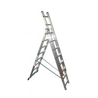 Лестница трехсекционная 3х17 Высота, профессиональная SuperPROF, 12,28 м