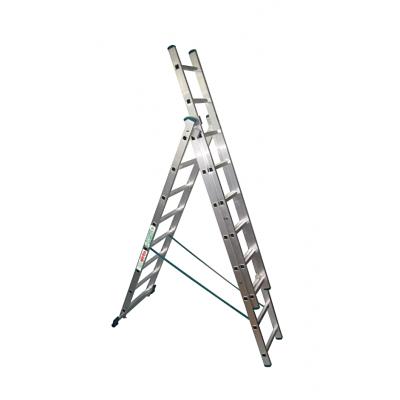 Лестница трехсекционная 3х16 Высота, профессиональная SuperPROF, 11,43 м VL3х16