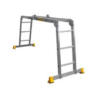 Лестница-трансформер ALUMET T4 4х3, профессиональная, длина 3.48 м