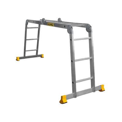 Лестница-трансформер ALUMET T4 4х4, профессиональная, длина 4.66 м Т444