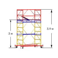 Вышка тура строительная СТАНДАРТ ВСП-250 1,0х2,0 м - 3,9 м