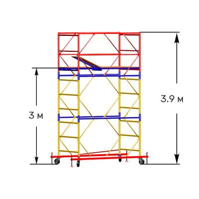Вышка-тура строительная СТАНДАРТ ВСП-250 1,2х2,0 м - 3,9 м