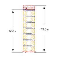Вышка тура строительная ПРОФИ ВСП-250 1,6х1,6 м - 13,5 м