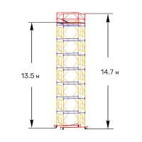 Вышка тура строительная ПРОФИ ВСП-250 1,6х2,0 м - 14,7 м