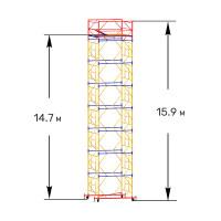 Вышка тура строительная ПРОФИ ВСП-250 1,6х2,0 м - 15,9 м