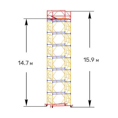 Вышка тура строительная ПРОФИ ВСП-250 2,0х2,0 м - 15,9 м