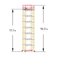 Вышка тура строительная ПРОФИ ВСП-250 1,6х1,6 м, - 18,3 м