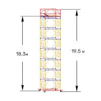 Вышка тура строительная ПРОФИ ВСП-250 1,6х2,0 м - 19,5 м