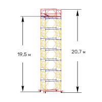 Вышка тура строительная ПРОФИ ВСП-250 1,6х2,0 м - 20,7 м