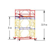 Вышка тура строительная ПРОФИ ВСП-250 1,6х2,0 м - 3,9 м