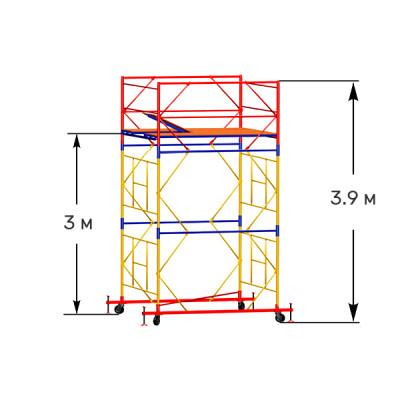 Вышка-тура строительная ПРОФИ ВСП-250 2,0х2,0 м - 3,9 м