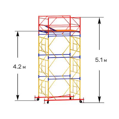 Вышка-тура строительная ПРОФИ ВСП-250 1,6х2,0 м - 5,1 м