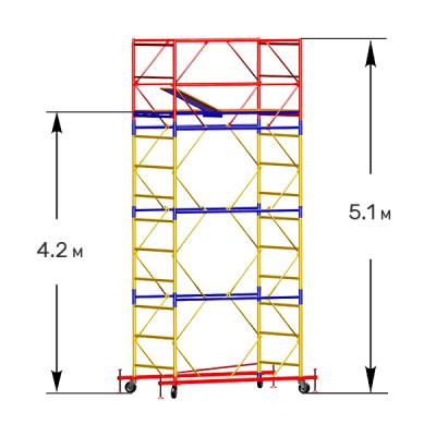 Вышка-тура строительная СТАНДАРТ ВСП-250 1,0х2,0 м - 5,1 м