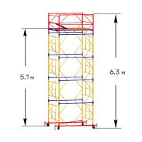 Вышка тура строительная ПРОФИ ВСП-250 1,6х2,0 м - 6,3 м