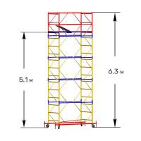 Вышка тура строительная СТАНДАРТ ВСП-250 1,2х2,0 м - 6,3 м