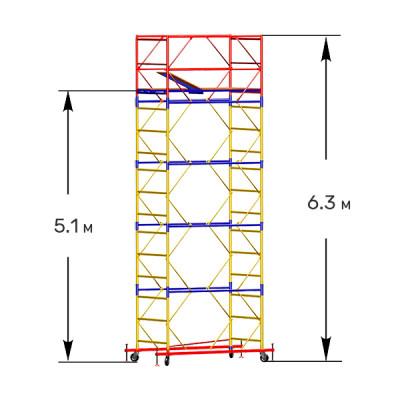 Вышка-тура строительная СТАНДАРТ ВСП-250 1,0х2,0 м - 6,3 м