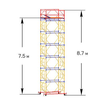 Вышка-тура строительная ПРОФИ ВСП-250 1,6х2,0 м - 8,7 м