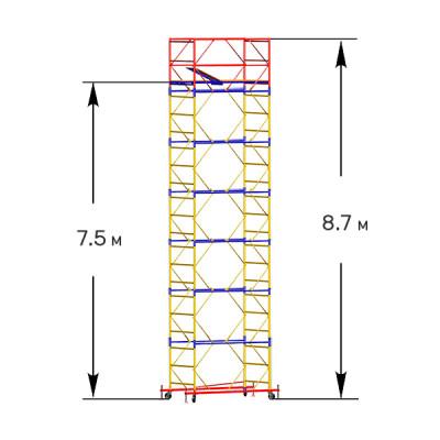 Вышка-тура строительная СТАНДАРТ ВСП-250 1,0х2,0 м - 8,7 м