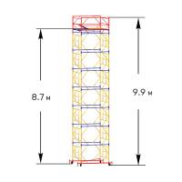 Вышка тура строительная ПРОФИ ВСП-250 1,6х2,0 м - 9,9 м
