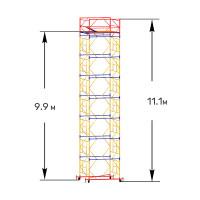 Вышка тура строительная ПРОФИ ВСП-250 1,6х2,0 м - 11,1 м