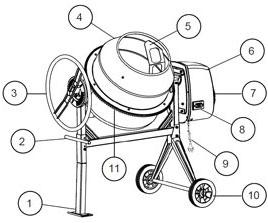 электрическая бетономешалка 160 литров